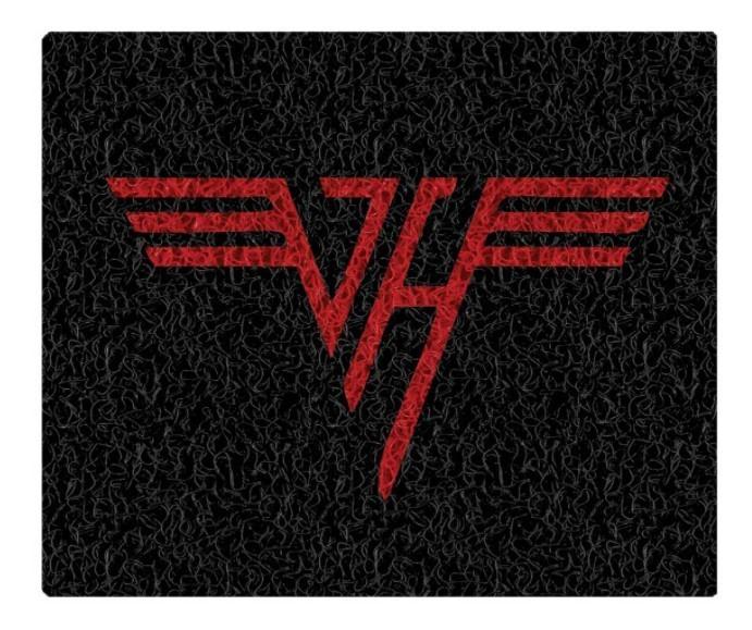 Tapete Capacho Decorativo Van Halen
