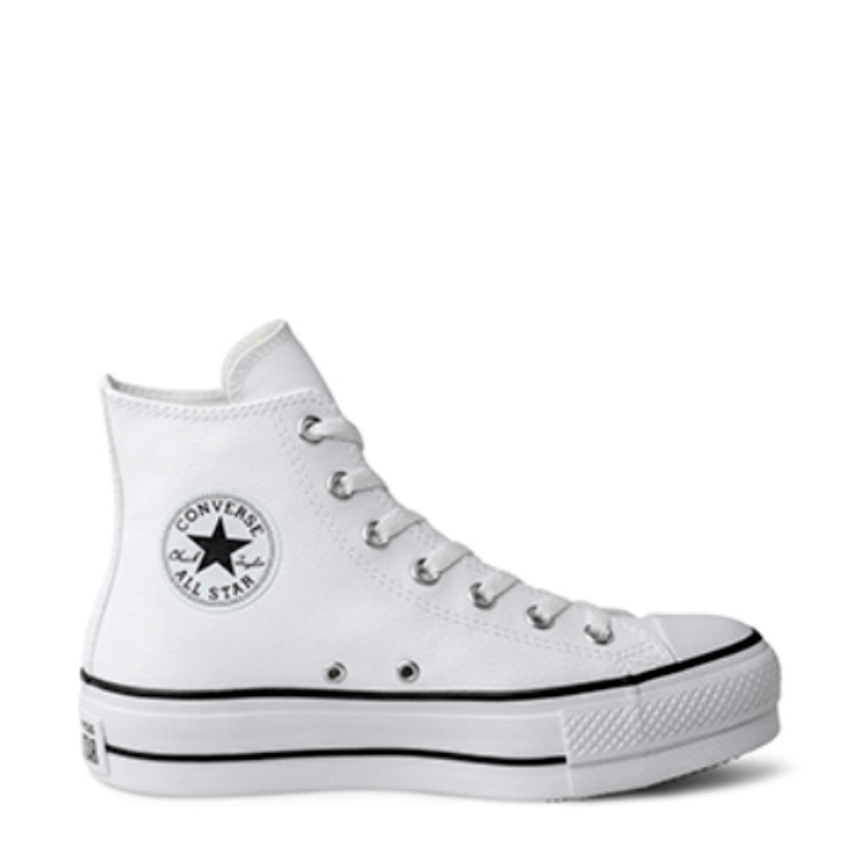 Tênis Converse Chuck Taylor All Star Platform Lift Hi Branco Preto CT09820001