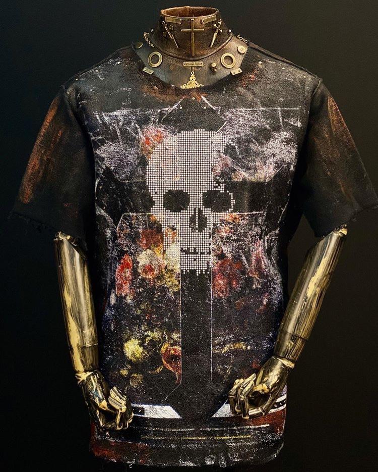 Tshirt Camiseta Masculina Caveira Arte