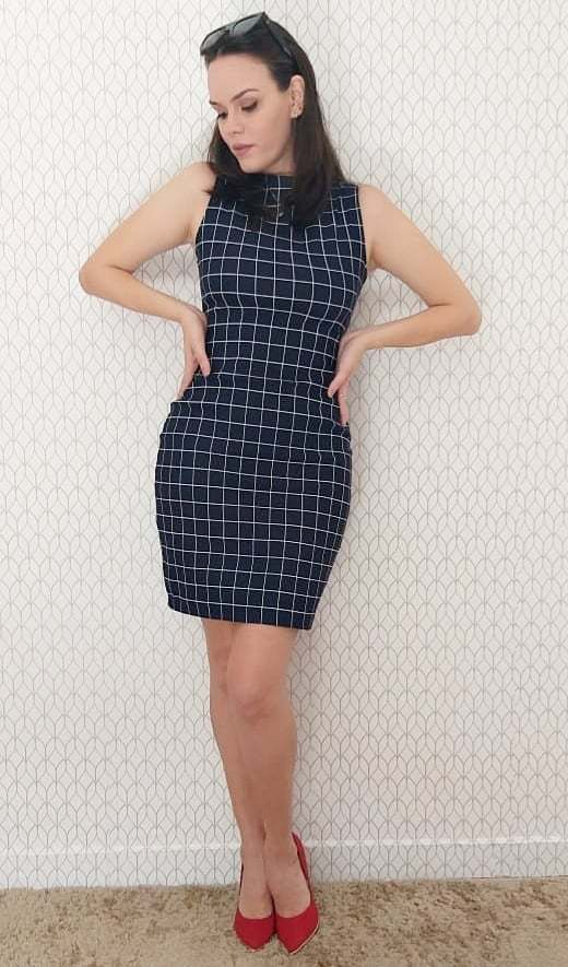 Vestido Clássico Quadriculado Nayla