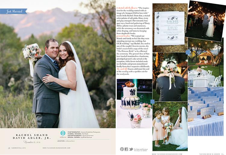 Tucson Bride & Groom - Summer/Fall 2015 - Featured Wedding