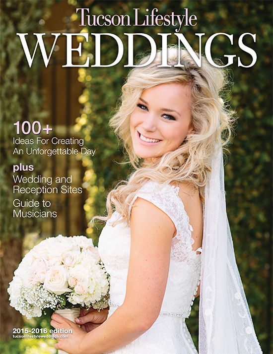 Tucson Lifestyle Magazine June 2015 - 2 featured weddings!