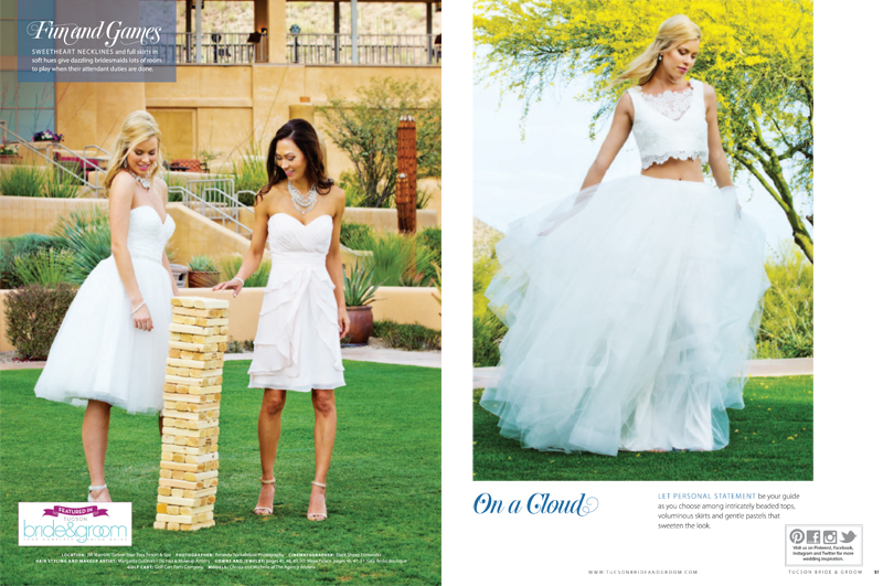 Tucson Bride & Groom Magazine - Cover Shoot and Featured Weddings