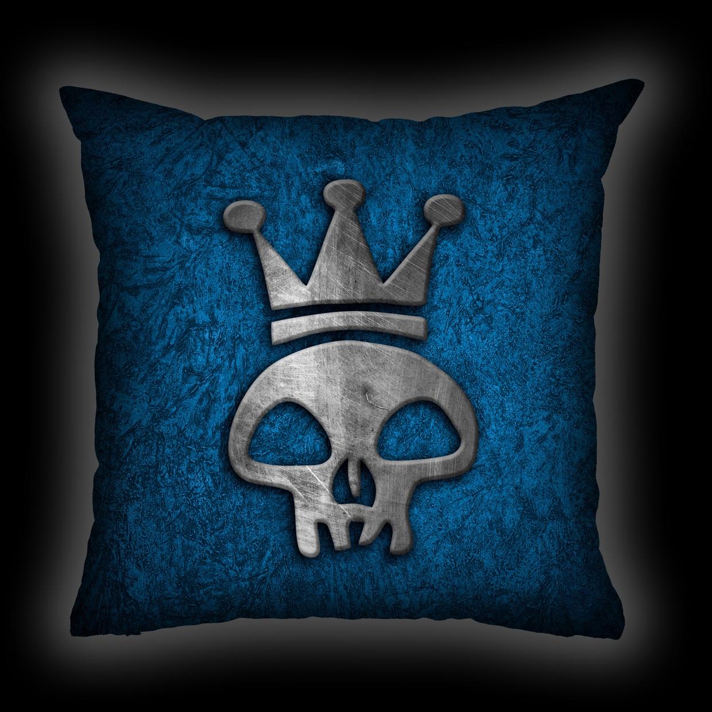 Almofada Capital Inicial - Caveira Azul