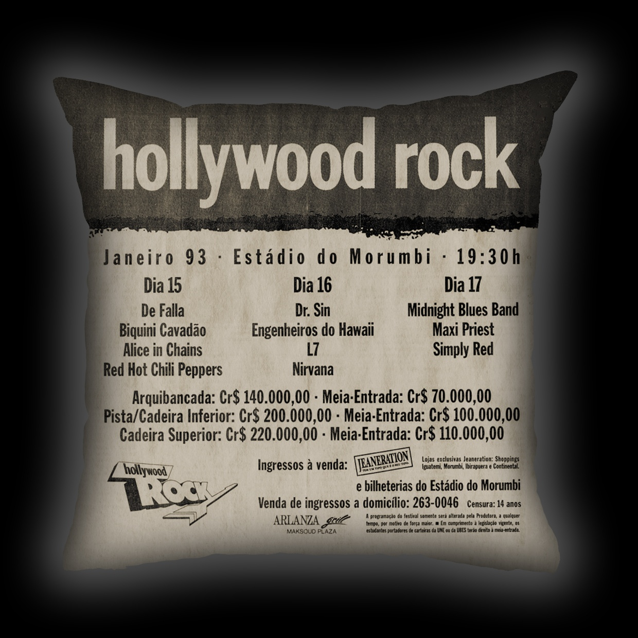 Almofada Dr. Sin - Hollywood Rock