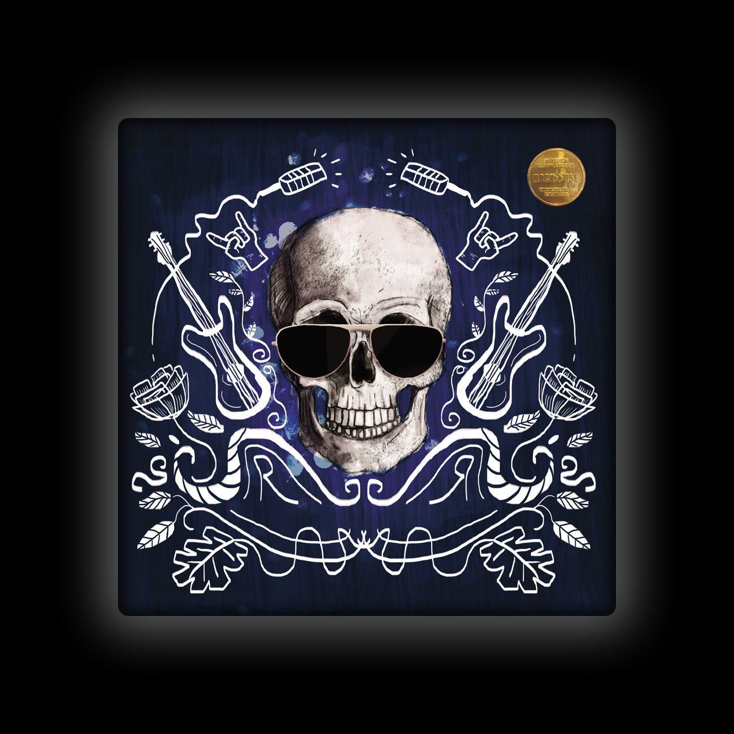Capa de Almofada Ale Graziani - I Love Rock'n'Roll - Azul
