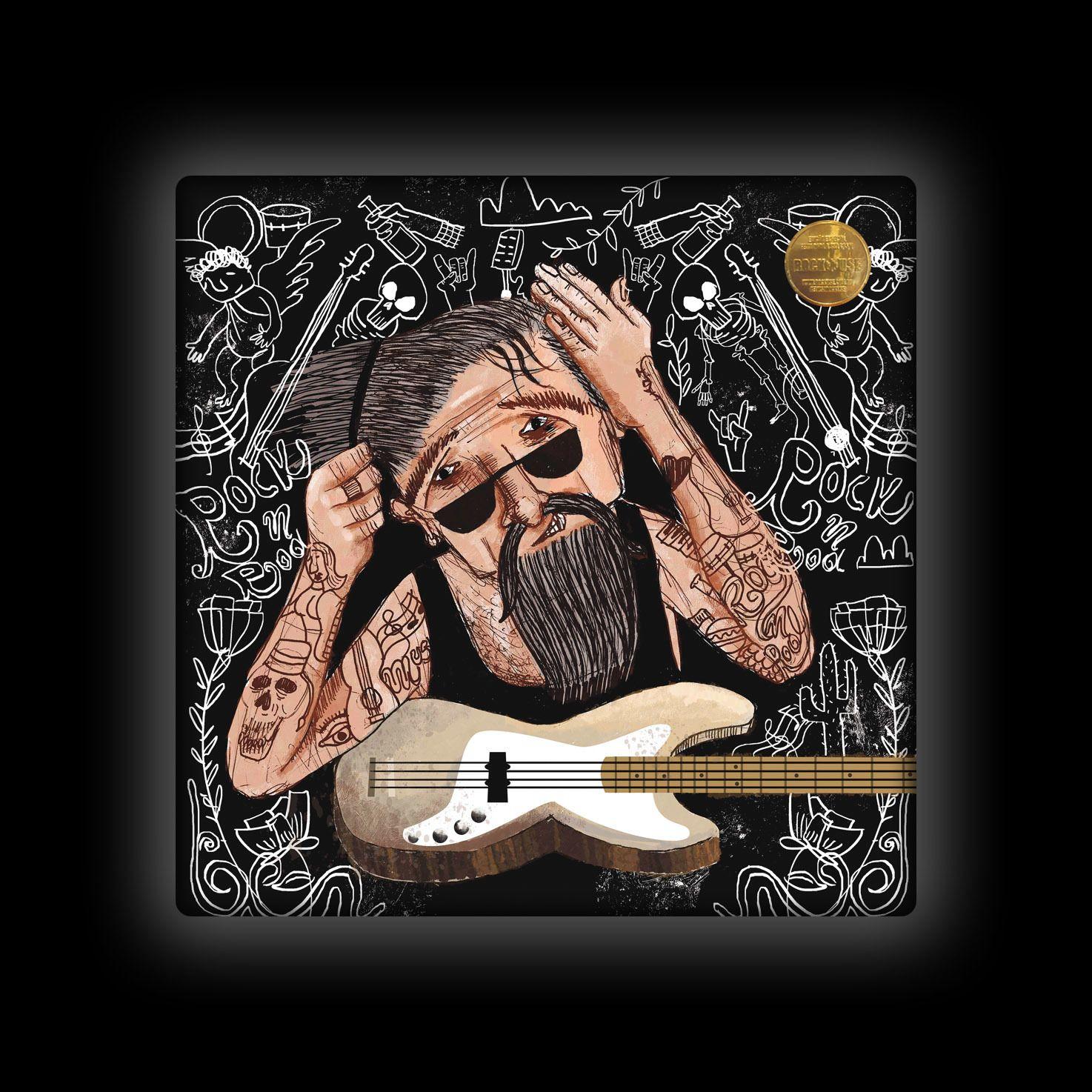 Capa de Almofada Ale Graziani - O Baixista Tatuado