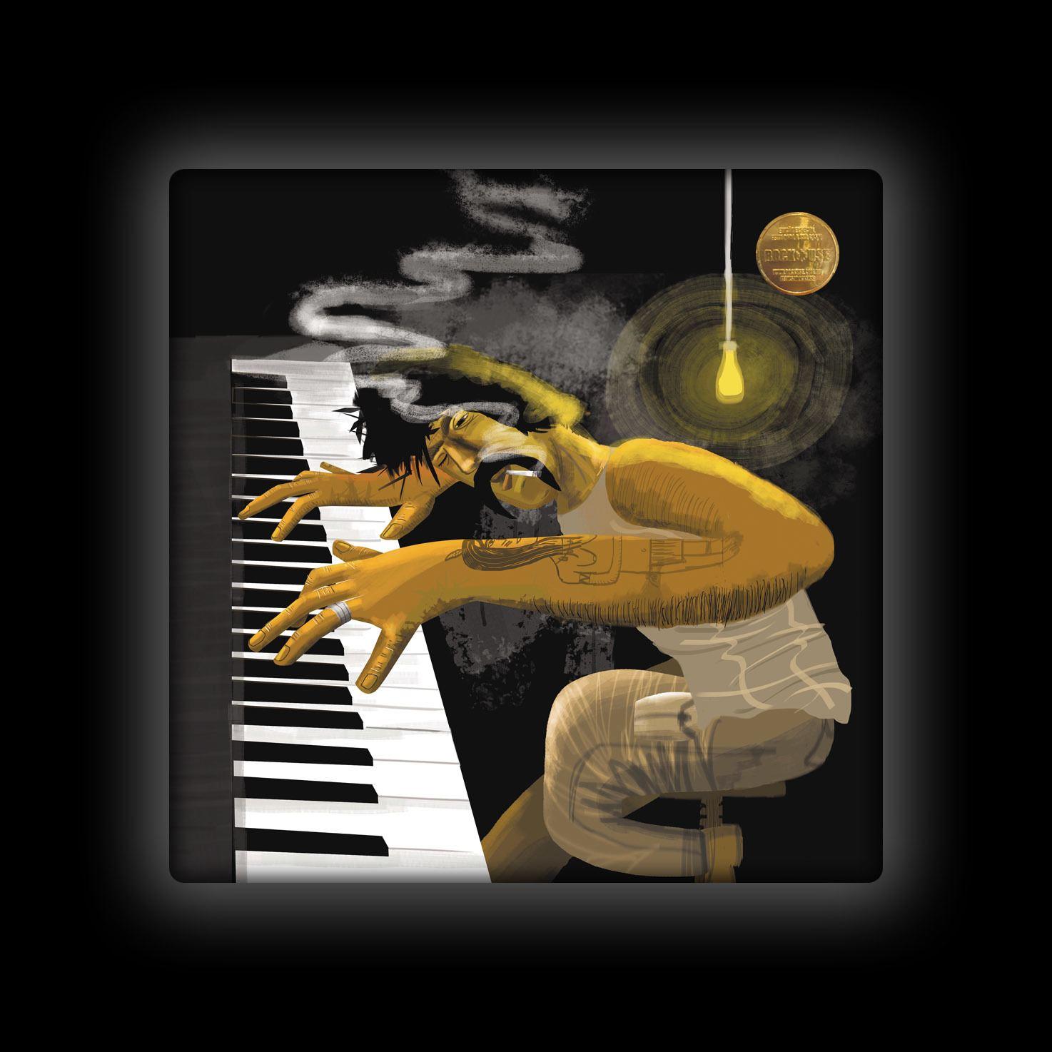 Capa de Almofada Ale Graziani - O Tecladista Virtuoso