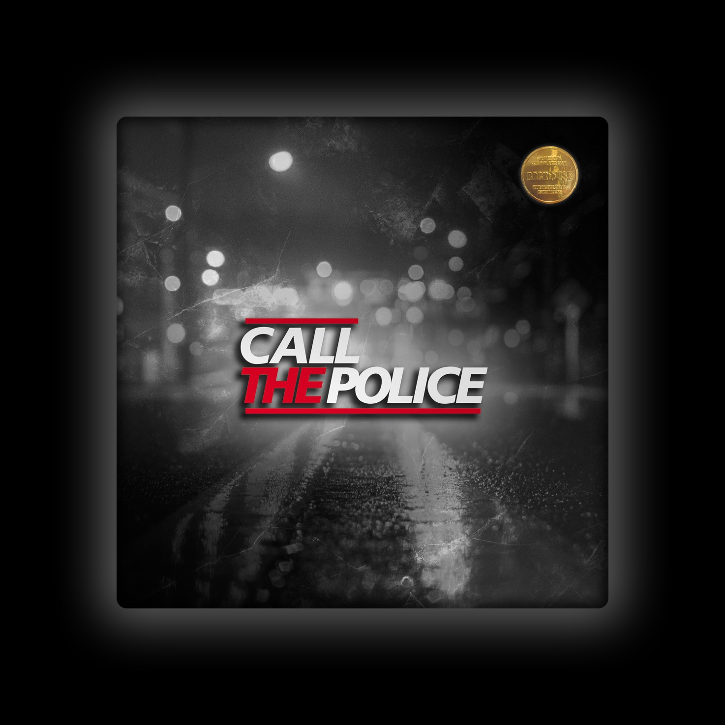 Capa de Almofada Call the Police - Lights (PB)