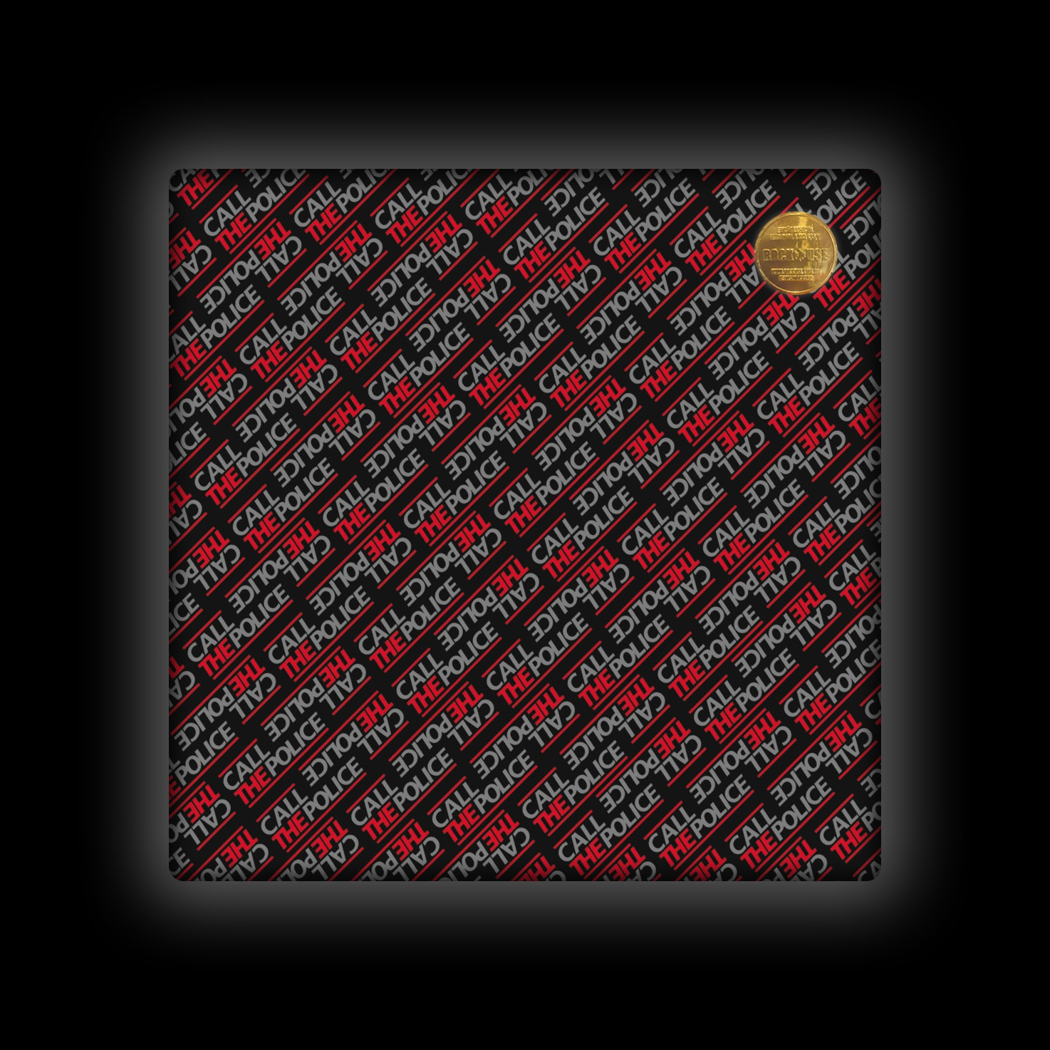 Capa de Almofada Call the Police - Wall (Black & Red)