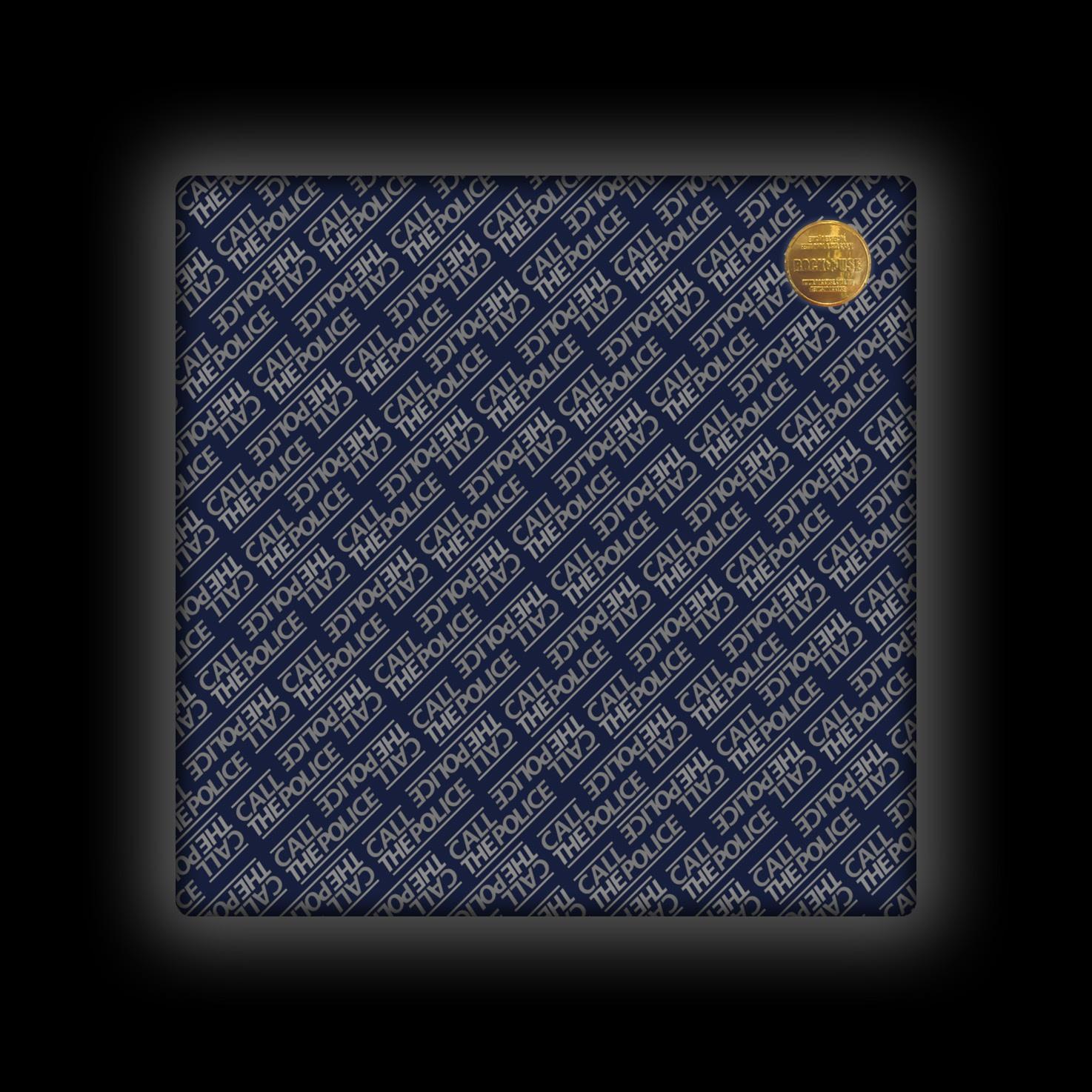 Capa de Almofada Call the Police - Wall (Deep Blue)