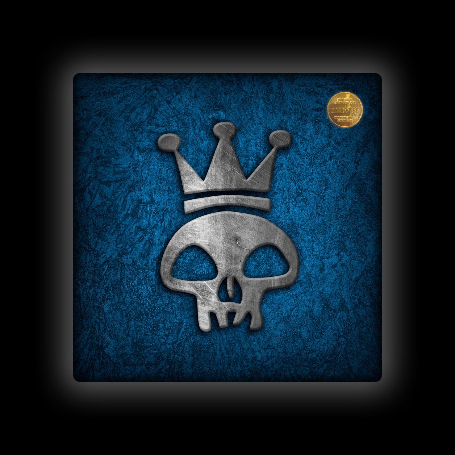 Capa de Almofada Capital Inicial - Caveira Azul