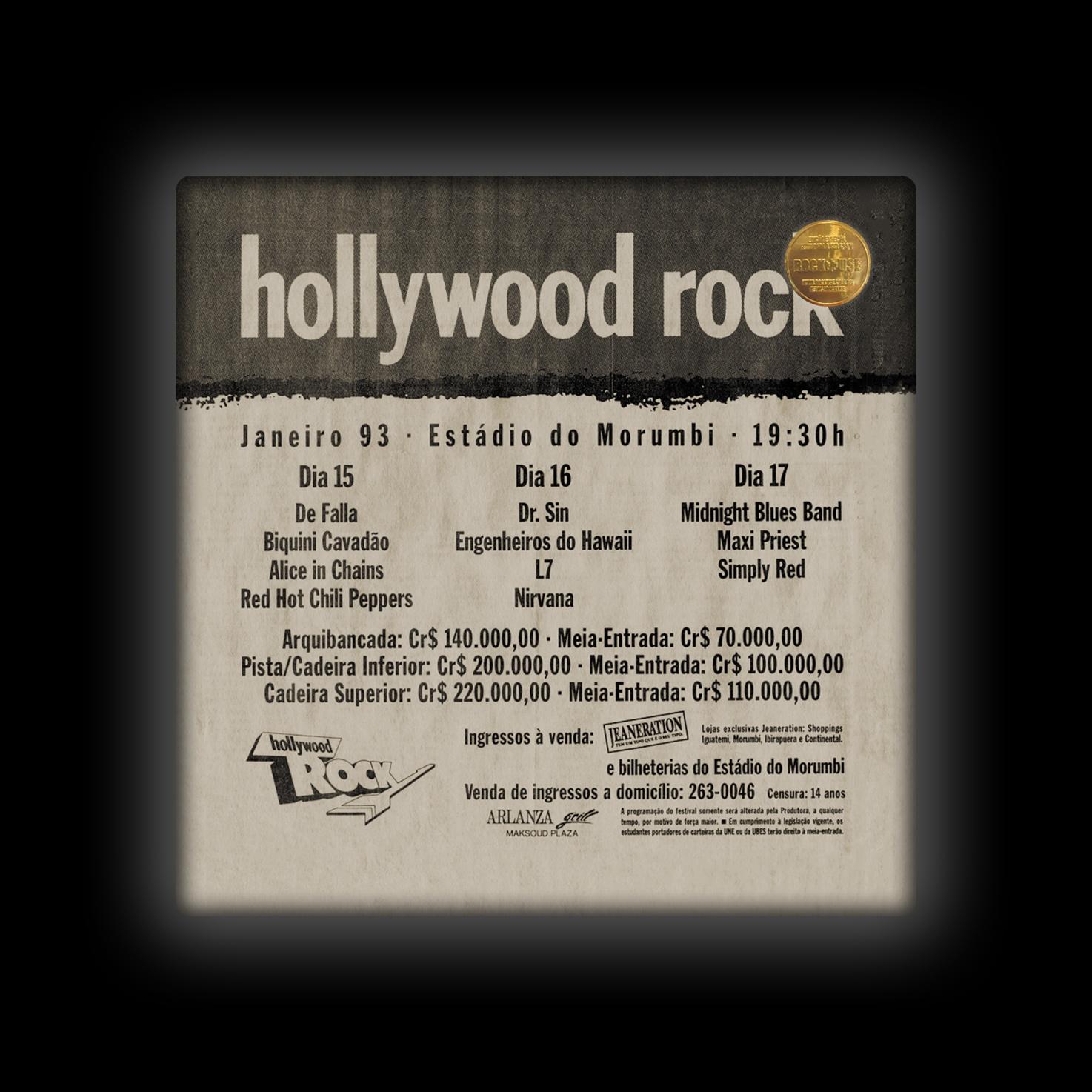 Capa de Almofada Dr. Sin - Hollywood Rock