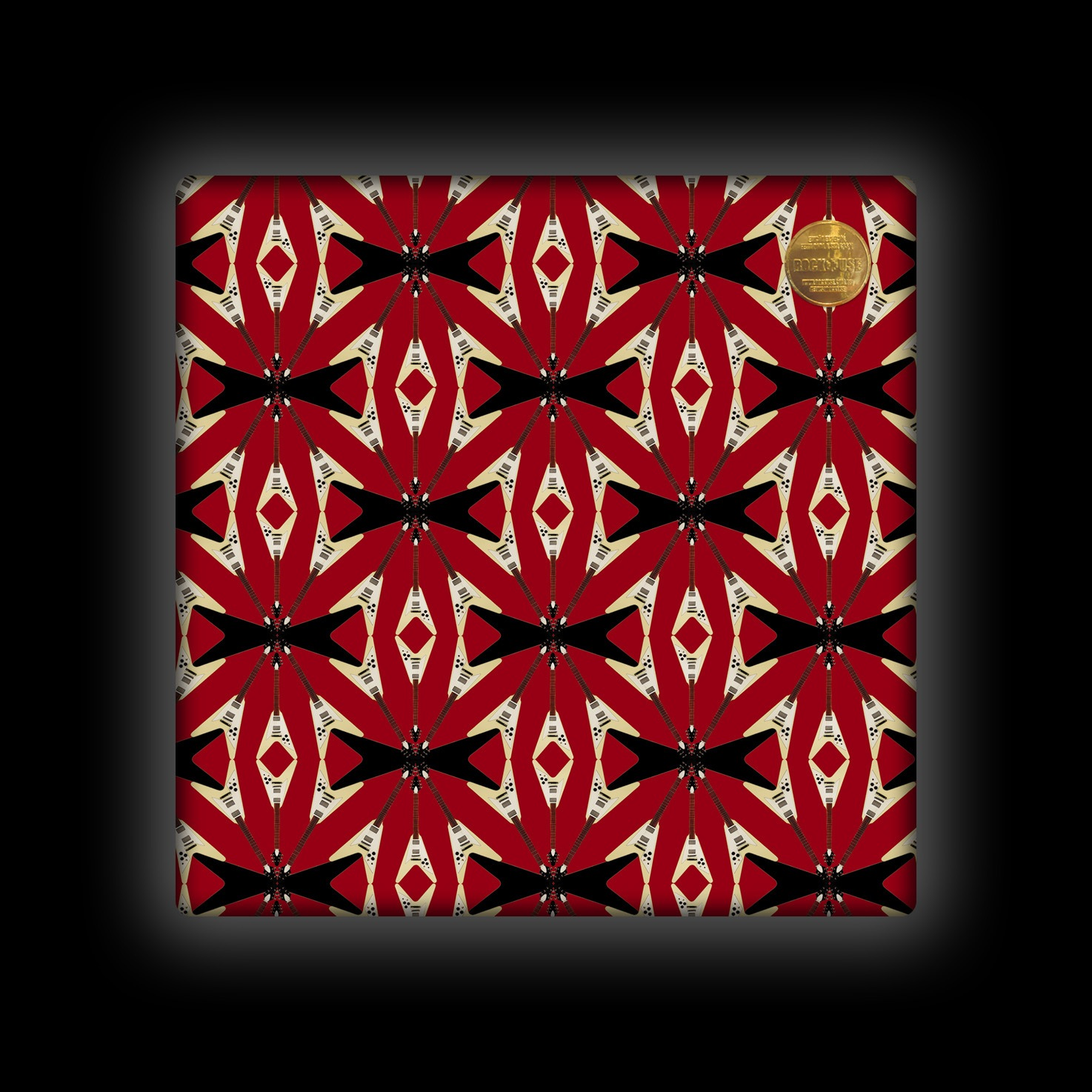 Capa de Almofada Rock Use - Flying V - Vermelha