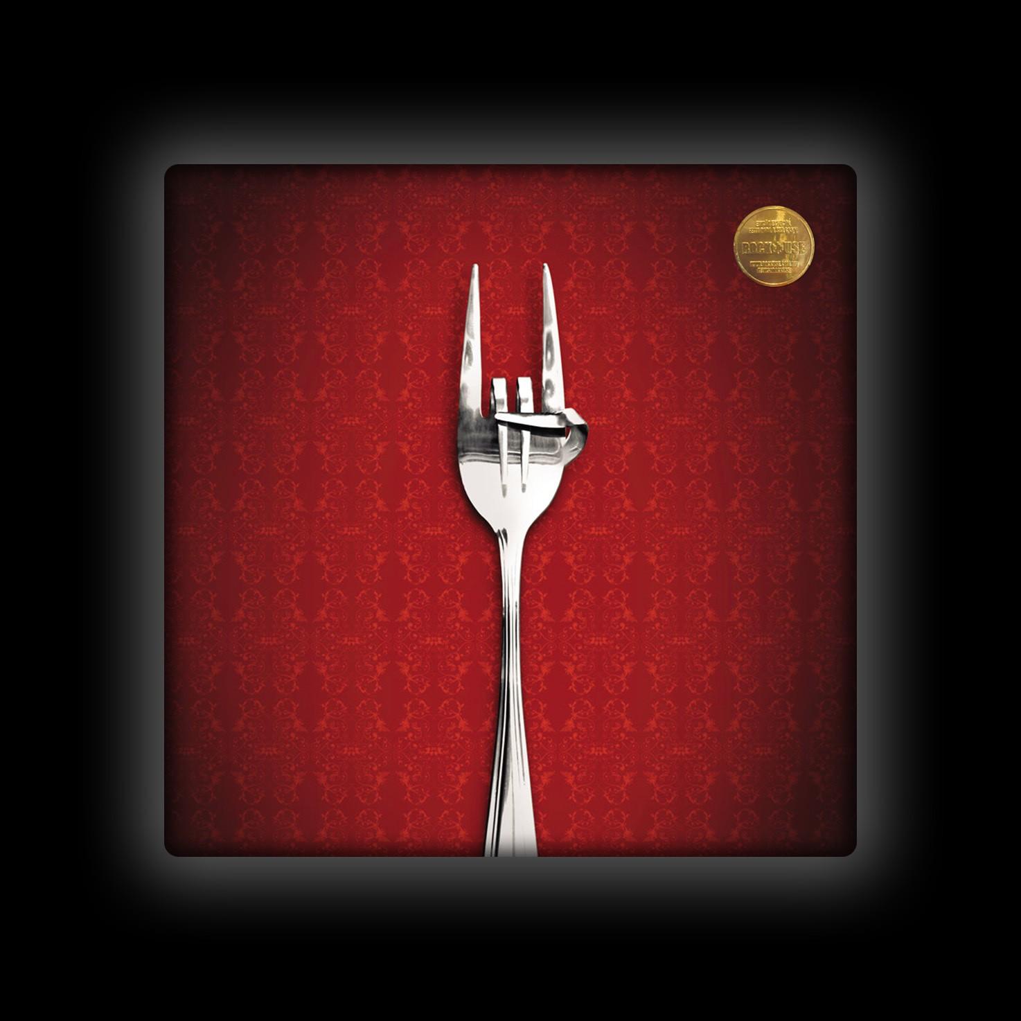Capa de Almofada Rock Use - Fome de Rock - Vermelha