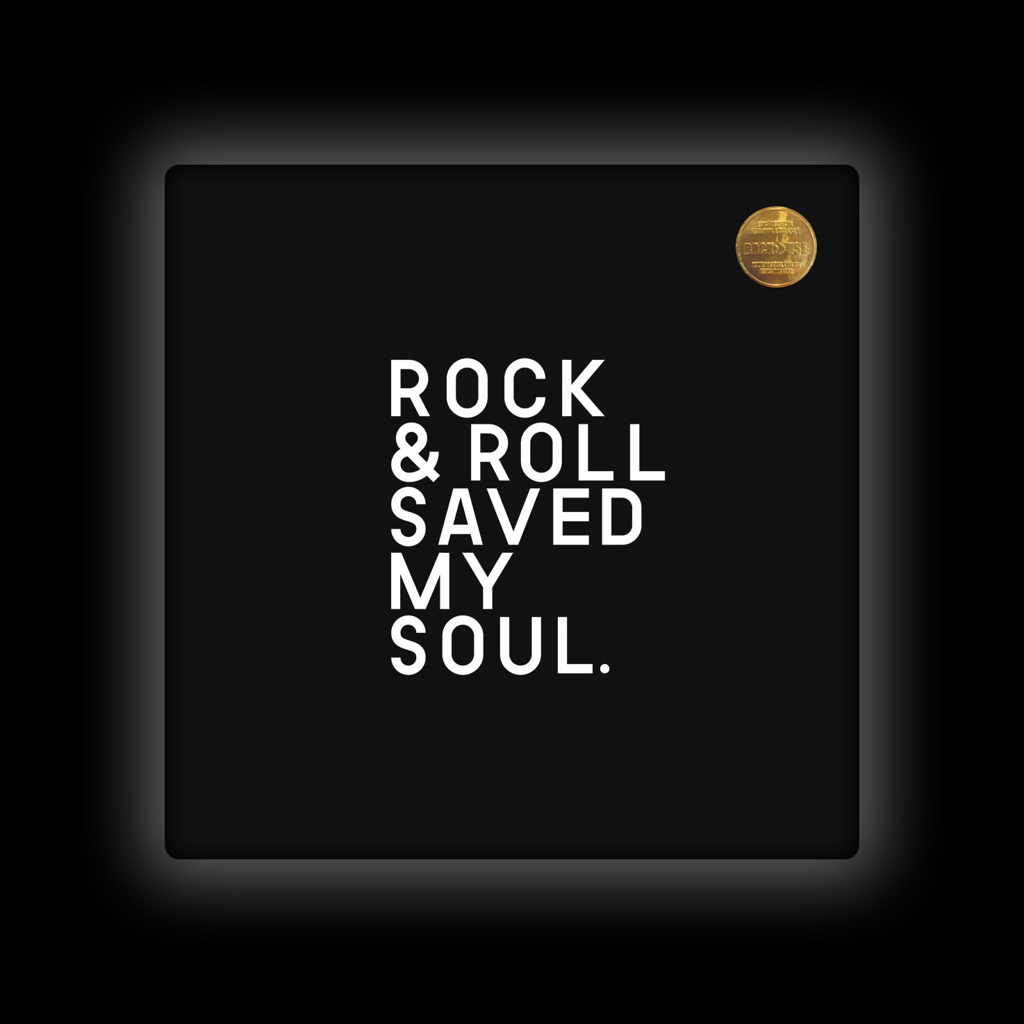 Capa de Almofada Rock Use - Rock & Roll Saved My Soul - Preta
