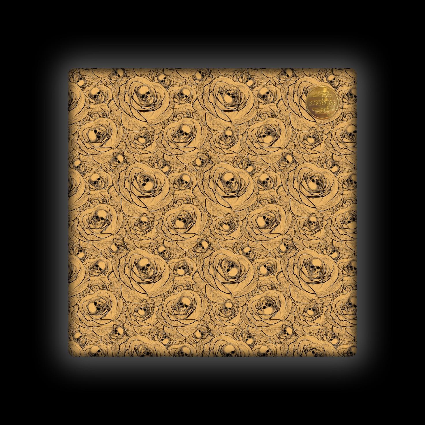 Capa de Almofada Rock Use - Skull & Roses - Bege