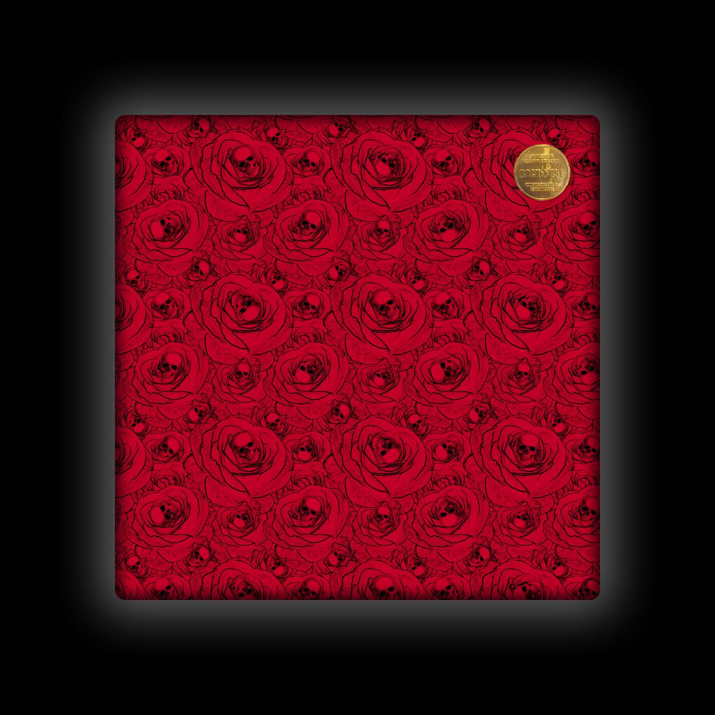Capa de Almofada Rock Use - Skull & Roses - Vermelha