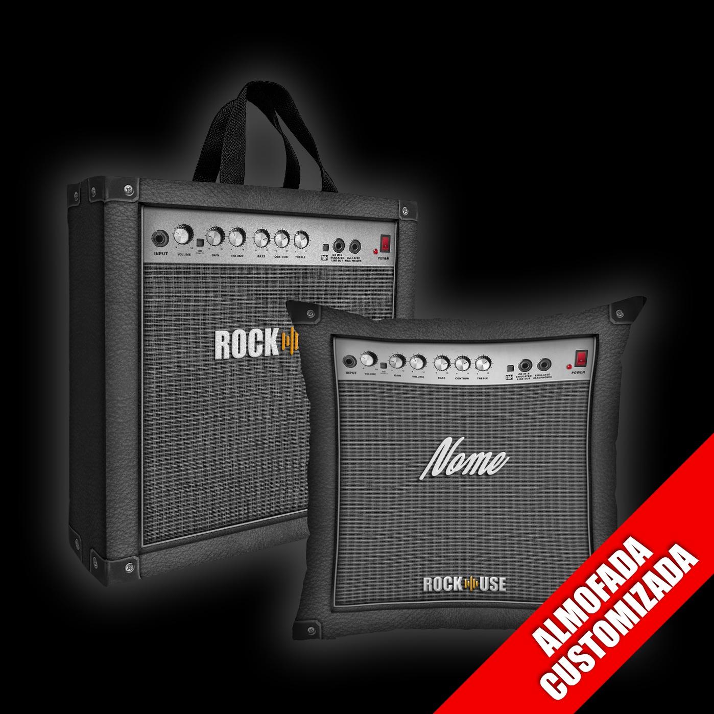 Kit Almofada Personalizada + Sacola Rock Use