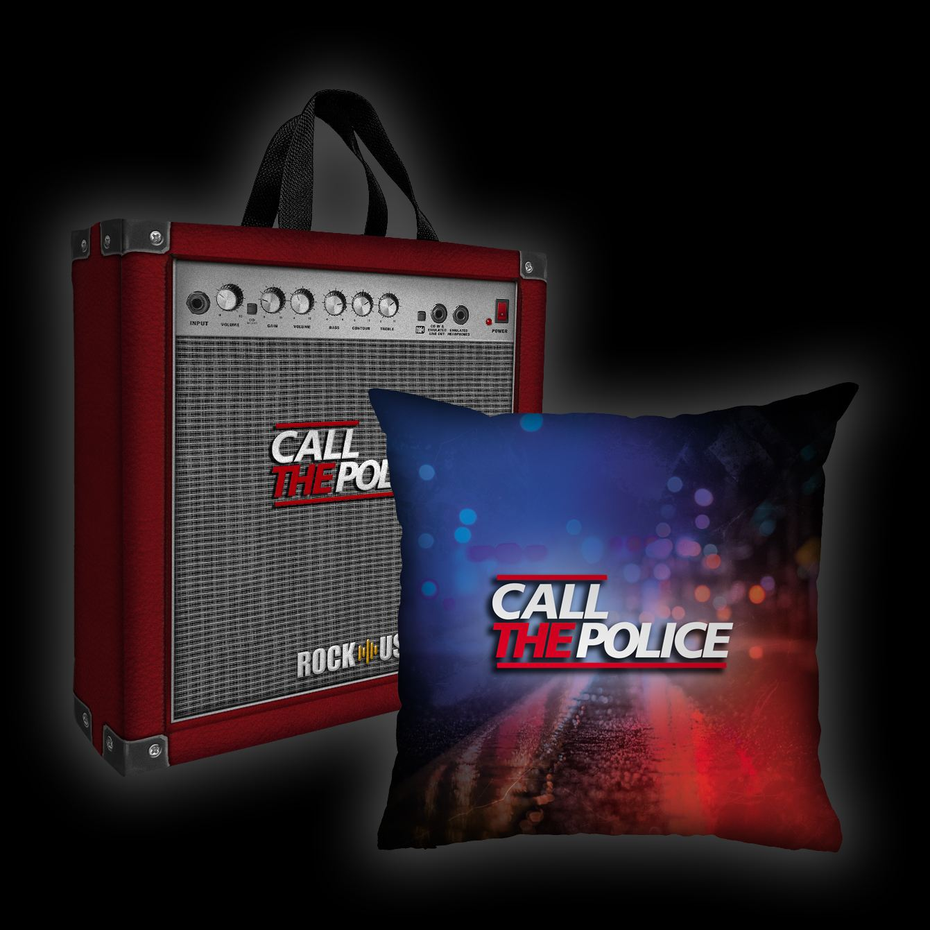 Kit Almofada + Sacola Call the Police - Lights (Color)