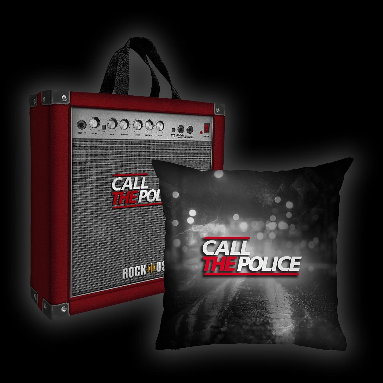 Kit Almofada + Sacola Call the Police - Lights (PB)