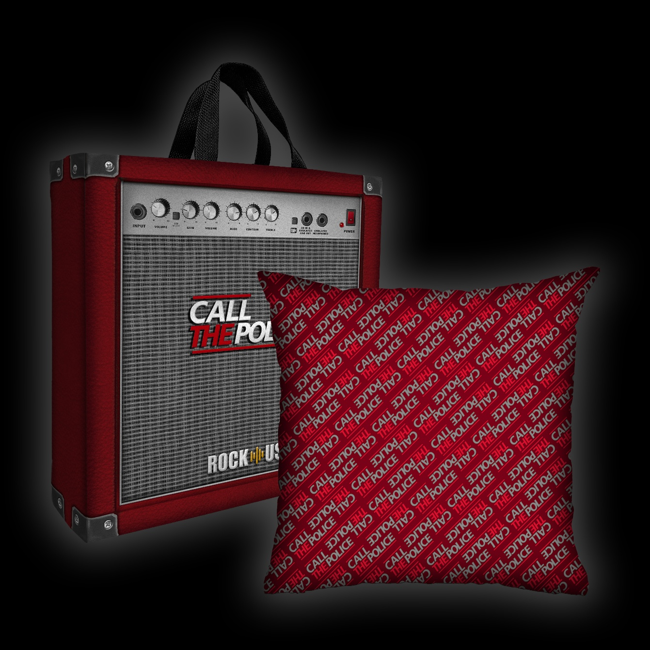 Kit Almofada + Sacola Call the Police - Wall (Red)