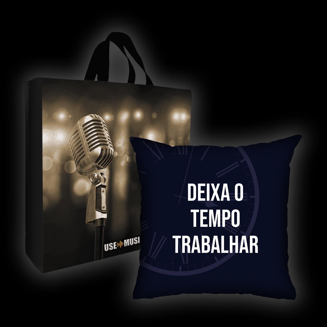 Kit Almofada + Sacola João Suplicy - Deixa o Tempo Trabalhar