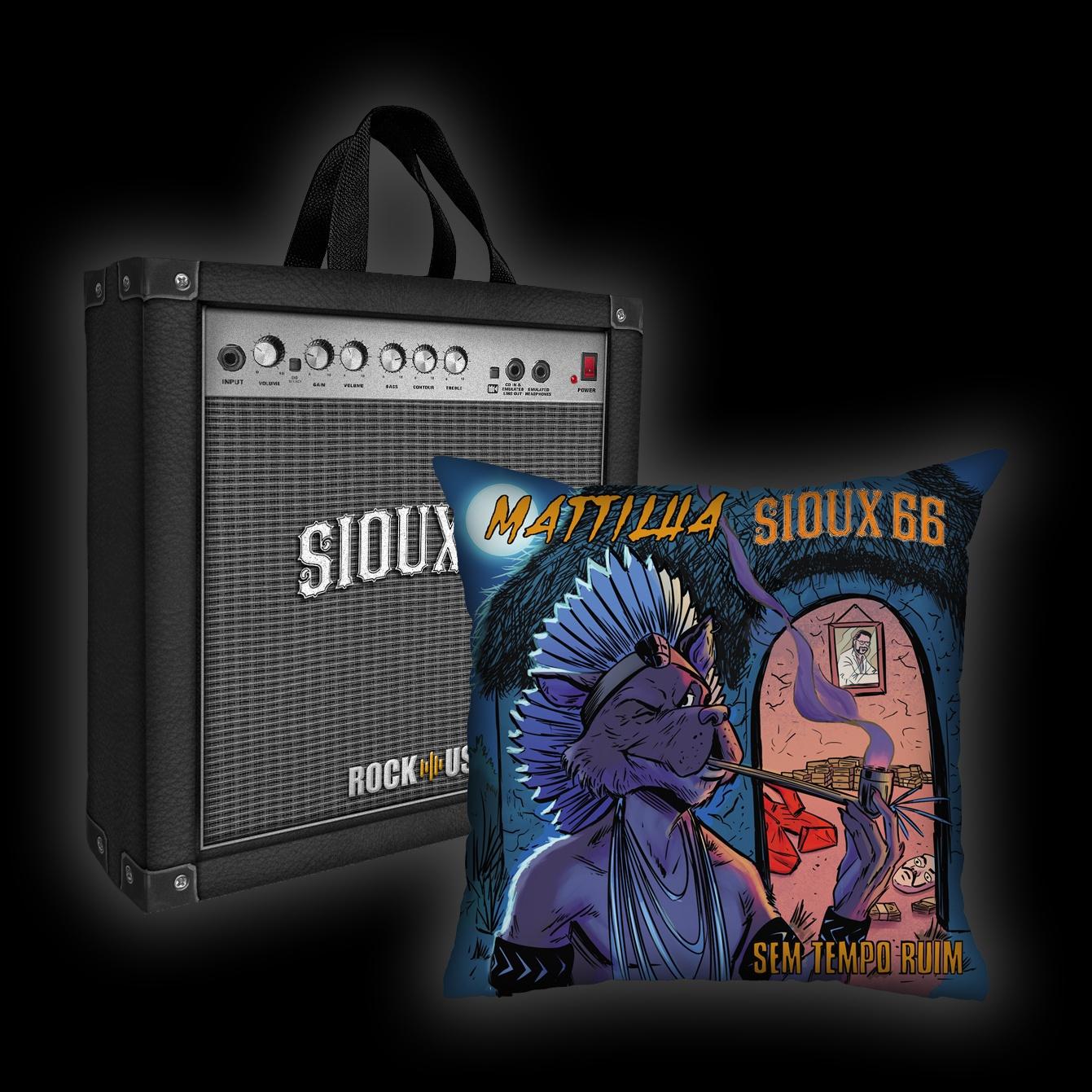 Kit Almofada + Sacola Sioux 66 - Sem Tempo Ruim