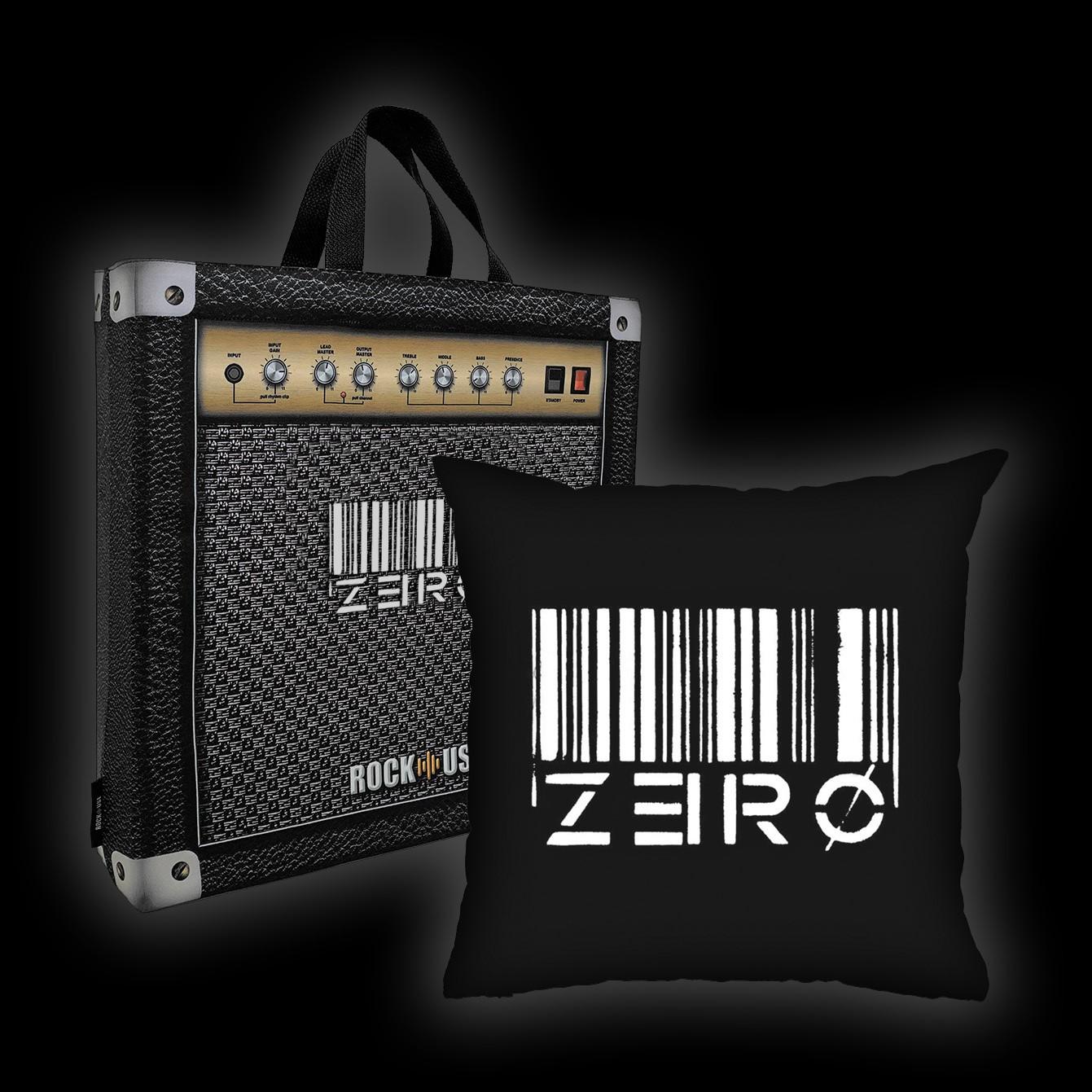 Kit Almofada + Sacola Zero - Code Zero (Preta)
