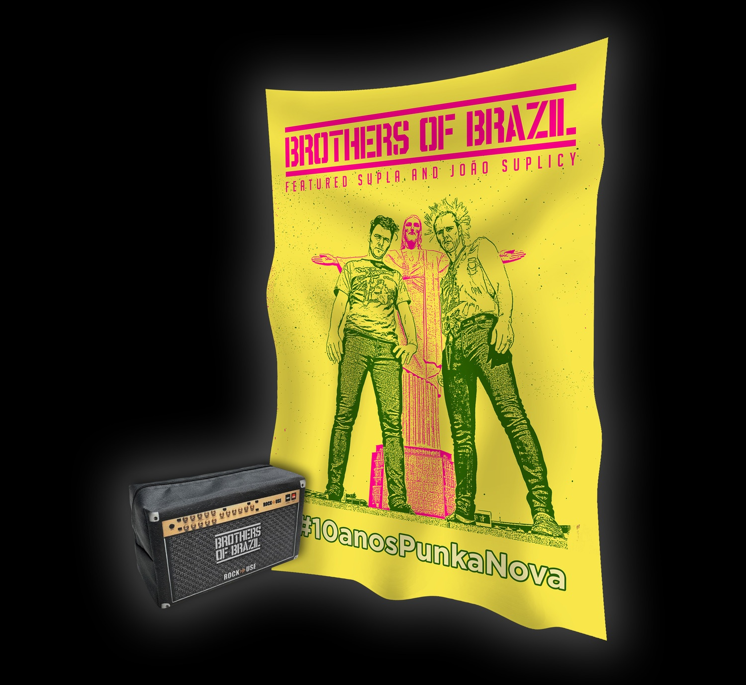 Kit  Necessaire & Bandeira Brothers of Brazil