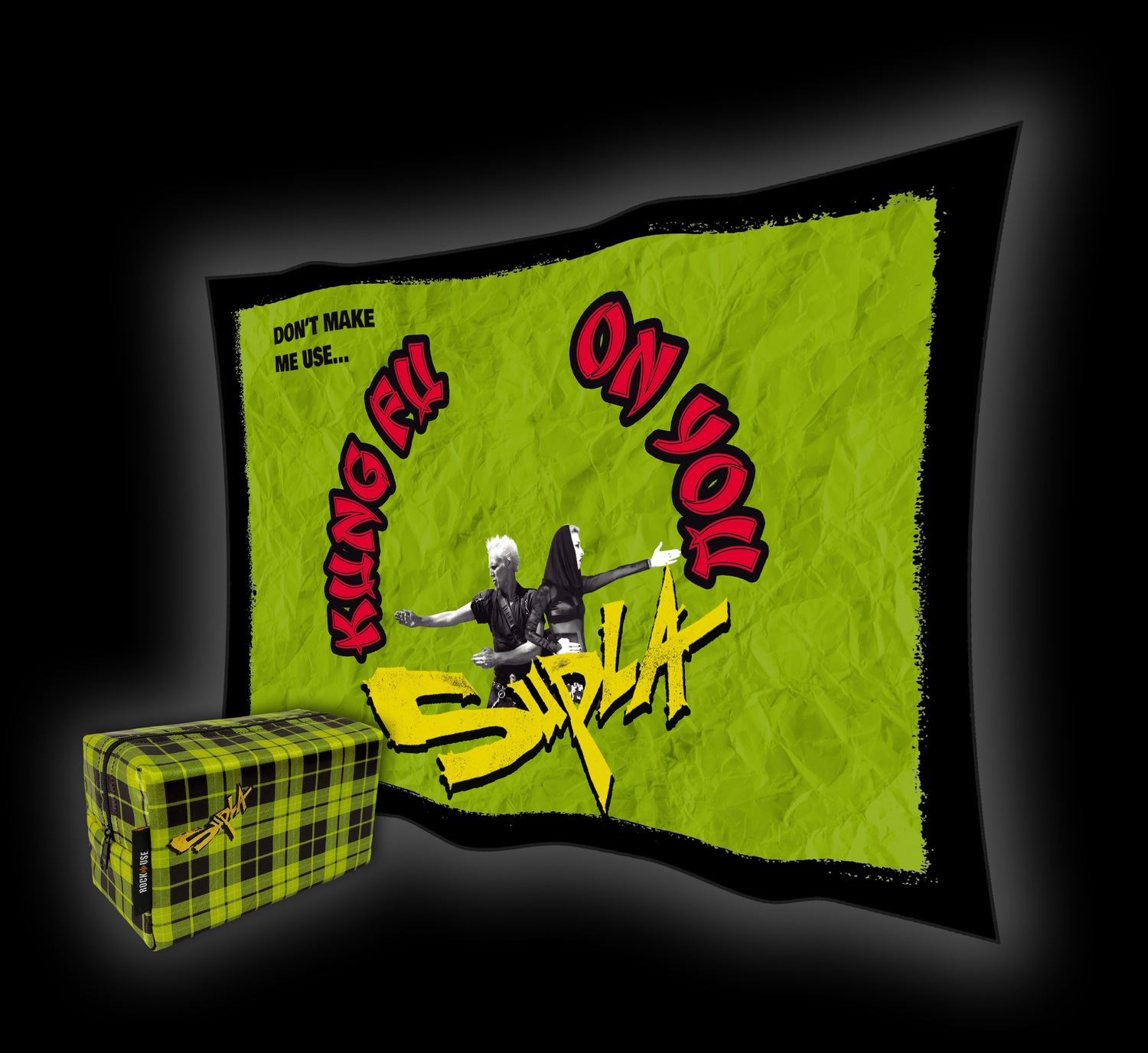 Kit Necessaire & Bandeira Supla - Kung Fu On You - Verde