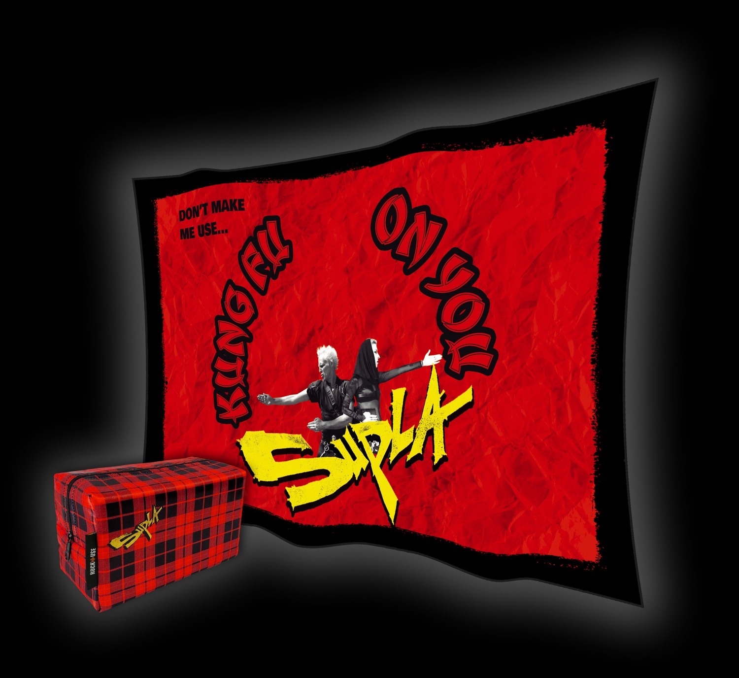 Kit Necessaire & Bandeira Supla - Kung Fu On You - Vermelha