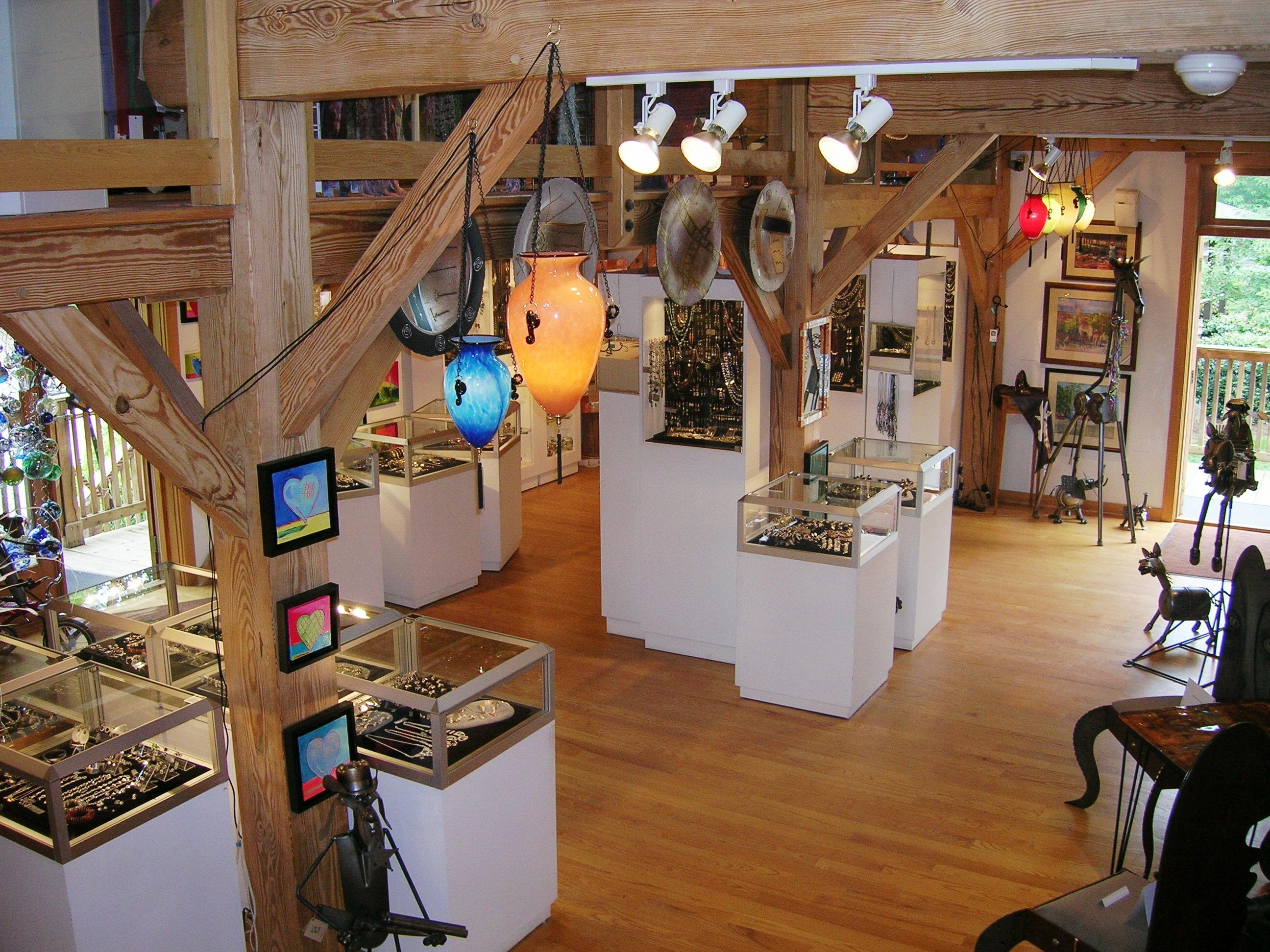 Inside Raiford Gallery, Canton Street, Roswell, GA