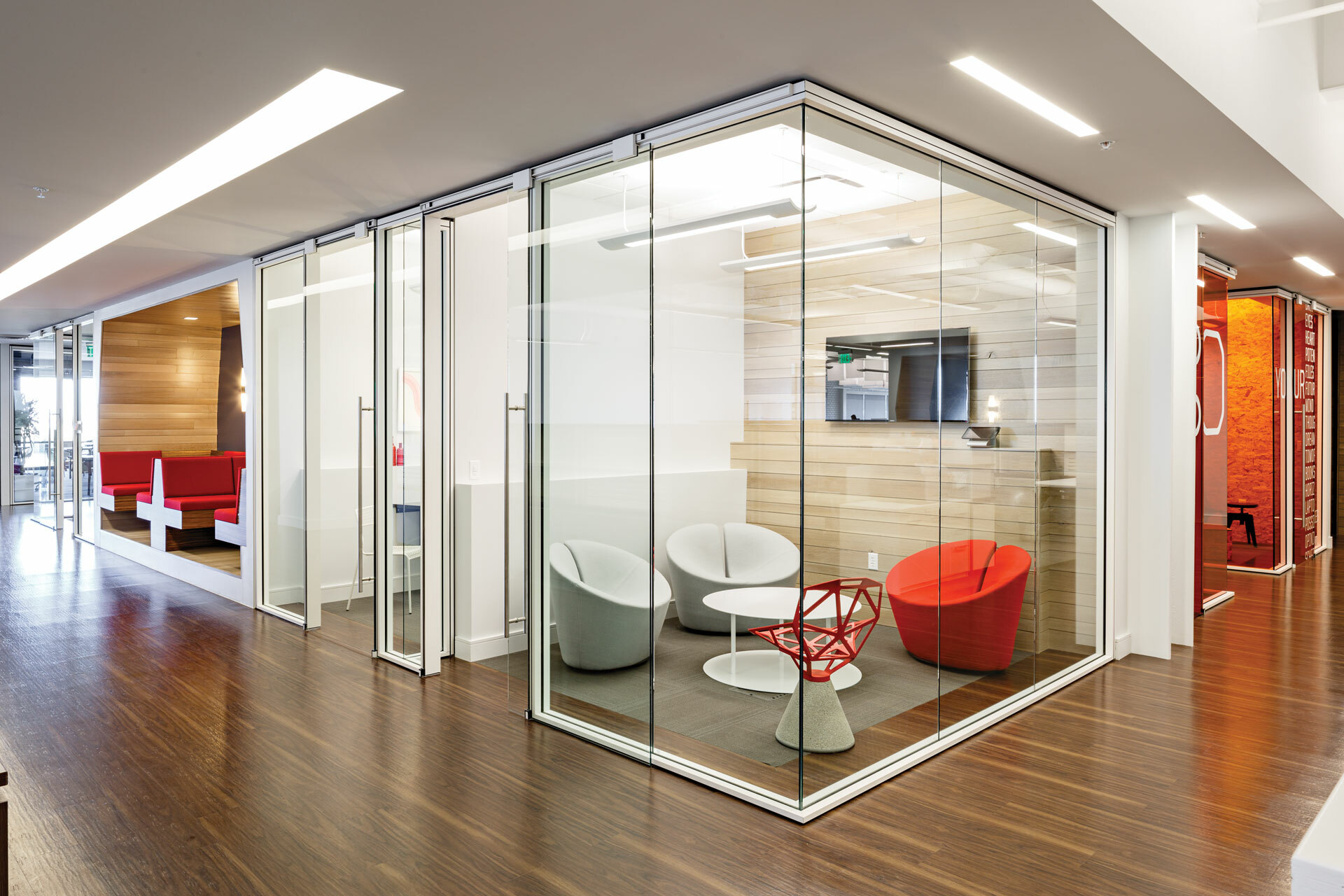 Pluralsight HQ corner Huddle Room