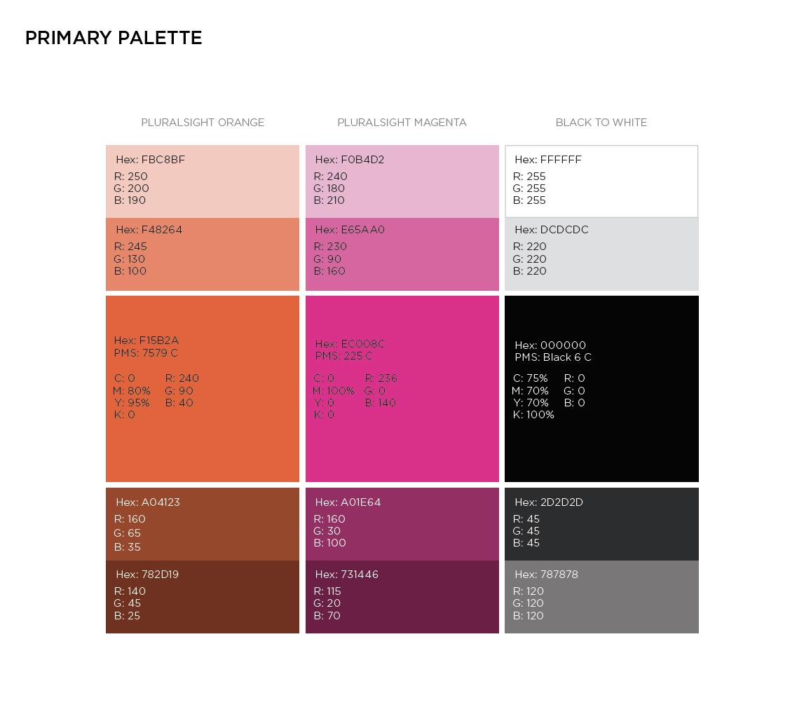 Pluralsight Colors