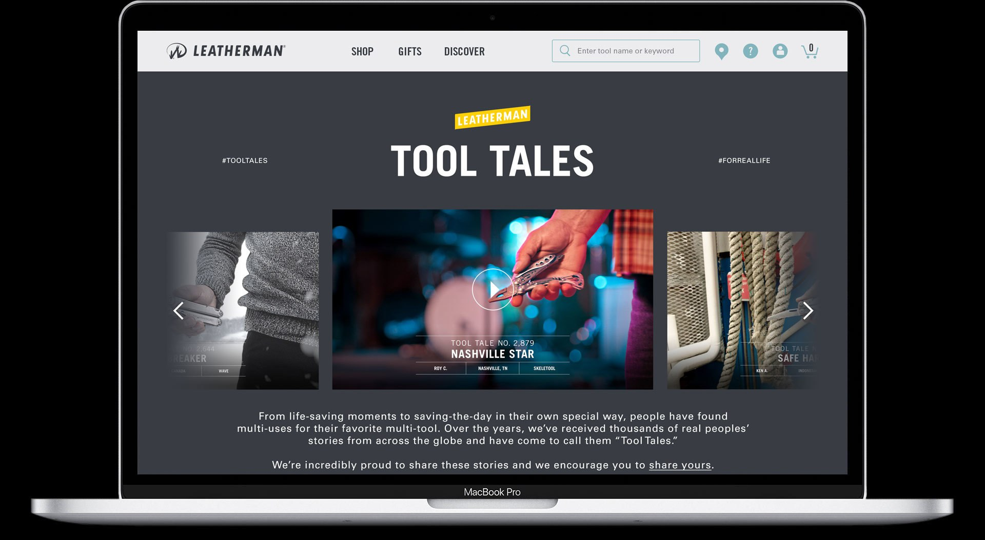 Tool Tales Website
