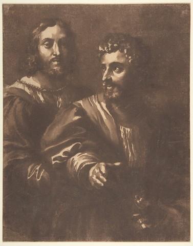JAN DE BISSCHOP «Autoportrait avec un ami (d'après Raphaël)»
