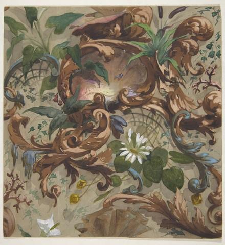 JULES-EDMOND-CHARLES LACHAISE «Etude de papier peint »