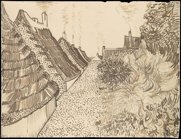 VINCENT VAN GOGH «Rue aux Saintes-Marie-de-la-Mer»