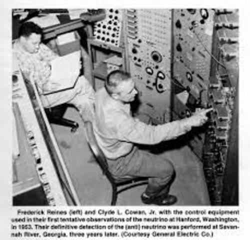 Clyde L. Cowan y Frederick Reines