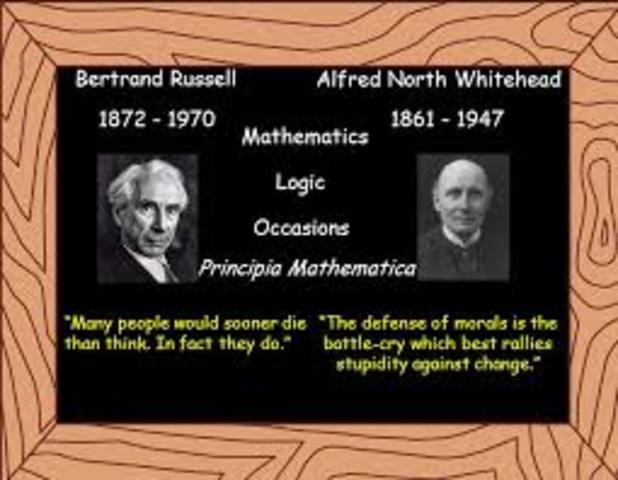 Bertrand Russell (1872 - 1970) y Alfred North Whitehead (1861 - 1947)