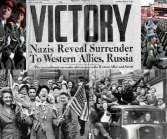 1945 derrota de Hitler y el Nazismo.