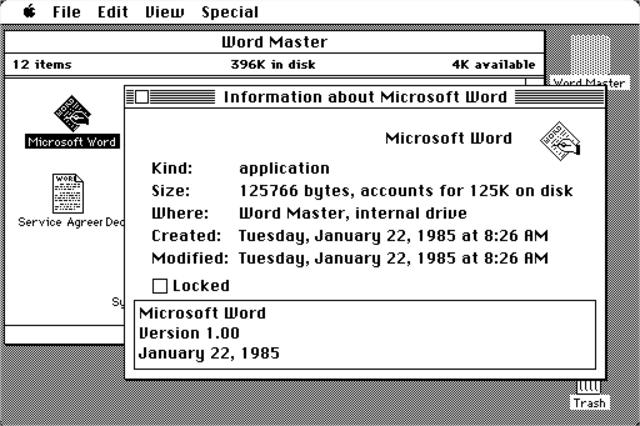 1983: Word 1.0