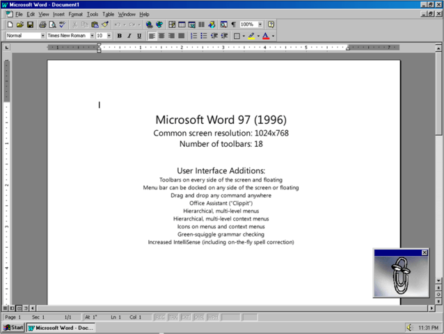 1997-1998: Word 97