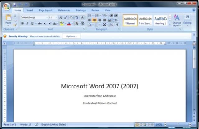 2006: Word 2007