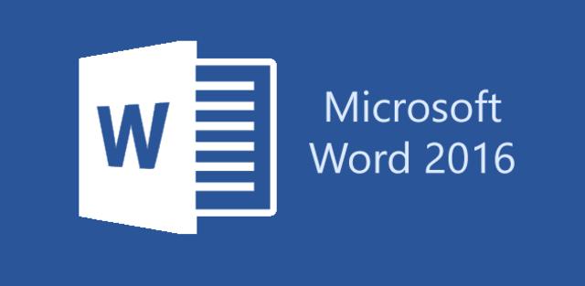 2016: Word 2016