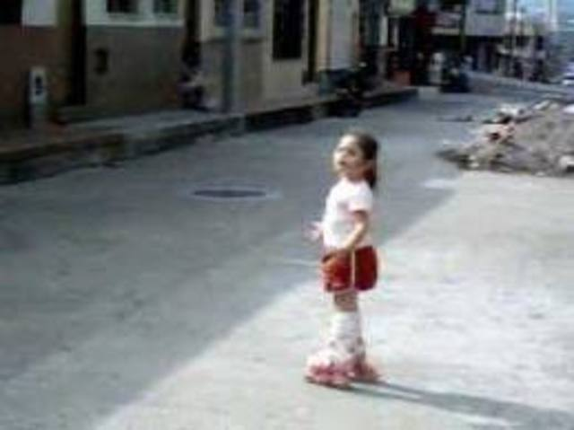 when I was 5 i used rollerblading,i couldn´t talking on phone and i slept bed early