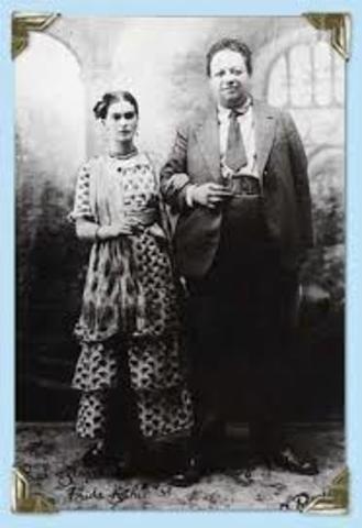 Contrajo matrimonio con Diego Rivera