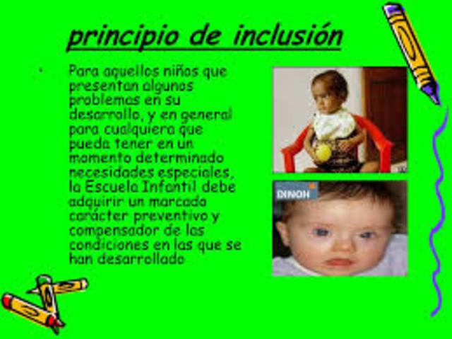 Desarrollo del Principio de Inclusión a partir de la Conferencia de la UNESCO en Tailandia.