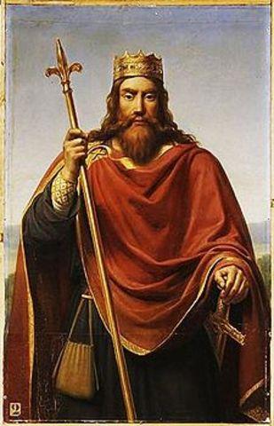 Conversão do rei Clóvis ao cristianismo ( 496 A.d )